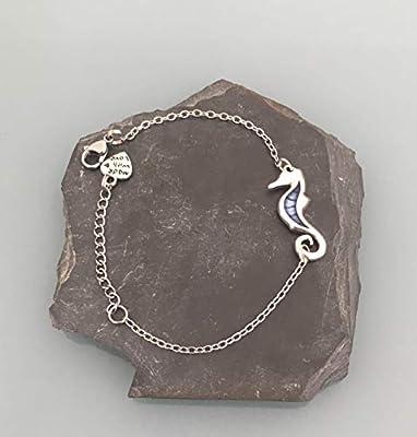 Bracelet hippocampe, Bracelet femme gourmette hippocampe en argent, bracelet femme, idée cadeau, bijoux cadeaux, bijou hippocampe, bracelet femme argent