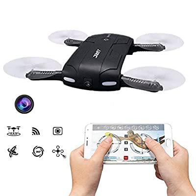 JJRC H37 ELFIE Mini Pocket Foldable Selfie Drone WIFI FPV with Camera Altitude Hold Mode Headless Mode One Key To Return RC Quacopter from Unipro Tek