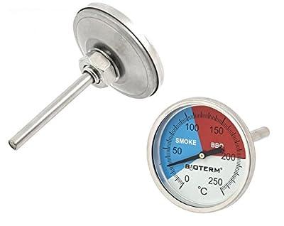 PREMIUM Grillthermometer mit Sonde (bis 250°C) Räucherthermometer Thermometer für Grill BBQ Räucherofen - analog