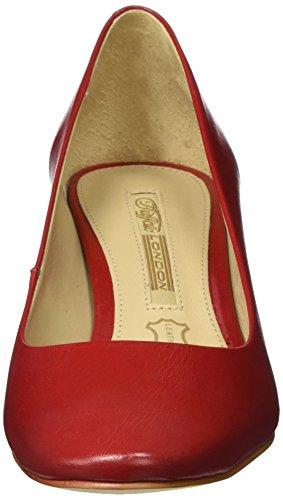 Buffalo London Zs 7426-16 Semi Cromo, Scarpe con Tacco Donna Rosso (Red207)