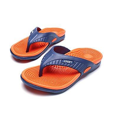 Slippers & amp da uomo;Pelle Estate Comfort Light Soles microfibra esterna del tallone piano casuale G sandali US10.5 / EU43 / UK9.5 / CN45
