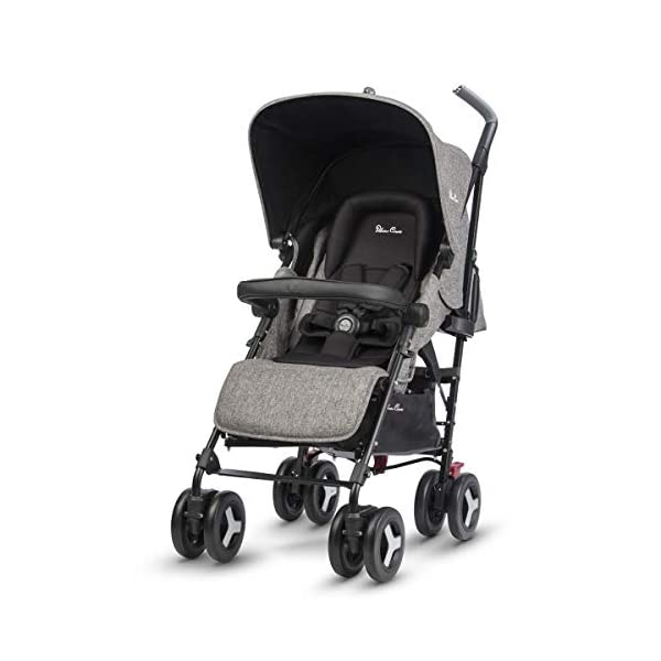 Silver Cross Reflex Brompton Silver Cross Reflex is an advanced stroller, suitable from birth up to 25kg, with a wealth of features 5-point harness Reflex comes with an exclusive matching new-born head hugger, meaning your baby is super cosy when the pushchair is in lie flat mode 3