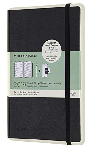 2019 Moleskine Paper Tablet Notebook Black Large Weekly 12-month Diary (Watch Black Pocket)