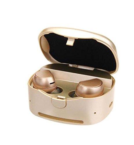 SQCOOL Mini auricular Bluetooth para música y comunicación manos libres con audífonos deportivos impermeables MIC y Power Box , D