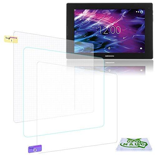 NAUC Bildschirm-Schutz-Folie f Medion Lifetab P8912 Schutzfolie 3X klar Universal Folie