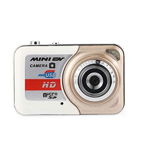 nattnjf macchina fotografica sportiva, portable mini hd 1920x1080p videocamera digitale per sport all'aria aperta con portachiavi d'oro