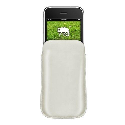 Katinkas KATIP31068 Ledertasche für Apple iPhone 3G/3GS Pouch weiß Iphone 3g Leder-holster