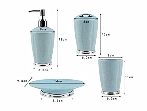 Luckyfree 4 pièce ronde fibre plastique Accessoires salle de bains
