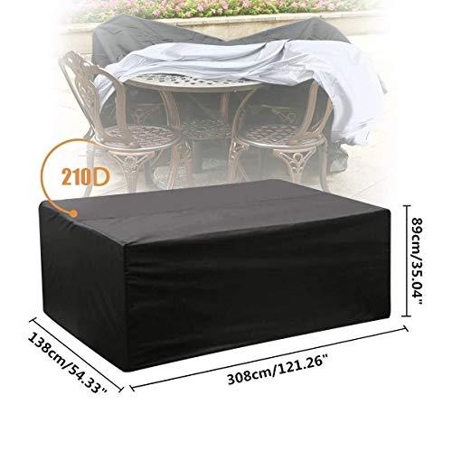 �bel Abdeckung wasserdicht Polyester Outdoor Sofa Sets Schutz Garten Outdoor Tisch Abdeckung würfel Sets staubschutz (213 * 132 * 74 cm) (Size : L) ()