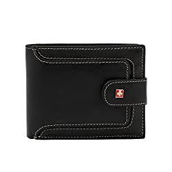 Swiss Military Black Mens Wallet (LW41)