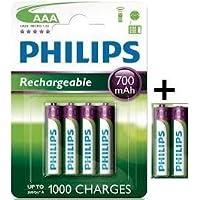 PHILIPS LOT DE 6 PILES RECHARGEABLES AAA 700 mAh 1,2 V