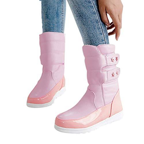 TianWlio Stiefel Frauen Herbst Winter Schuhe Stiefeletten Boots Winter Flache Schuheinlage aus...