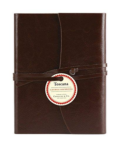 Cavallini & Co. Leder-Tagebuch Toscana handgebunden zum Klappen 13x18 cm in braun 256 Seiten (Co-klappe)