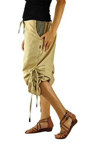 Sarouel multifonctionnel, court et long unisexe, pantalon bouffant pour hommes et femmes, vêtements ethniques de virblatt S - L-Praktisch Beige
