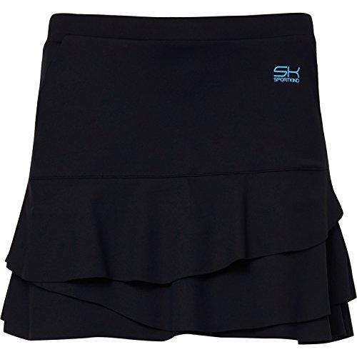 Sportkind Mädchen & Damen Tennis/Hockey/Golf Tulip Rock mit Taschen & Innenhose, schwarz, Gr. XXL