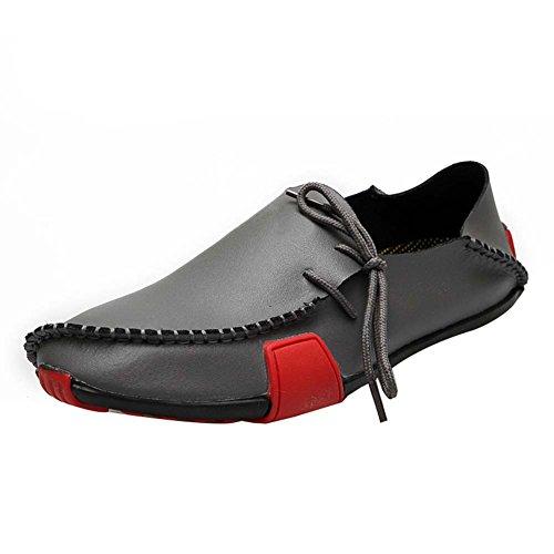 WTUS Docksides, Respirante Loisirs Chaussures Bateau Homme Gris