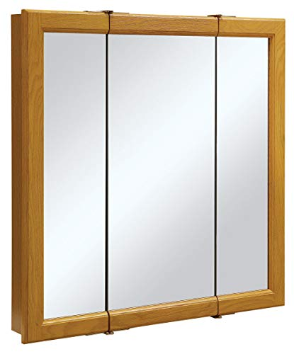 Design House 545301Claremont Honig Eiche tri-view Medizinschrank Spiegel mit 3-Türer, 76cm von 76cm (Eitelkeit Spiegel Badezimmer)