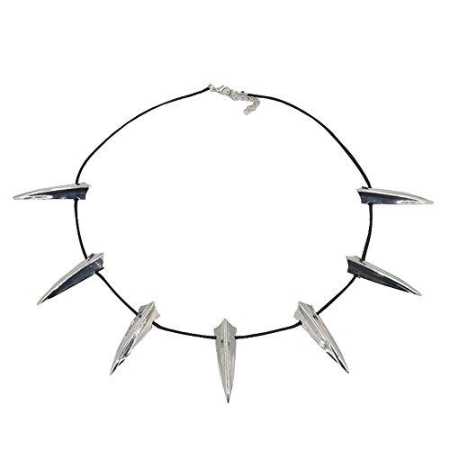 (Unisex Black Pante Schwar Panter Halskette Halskette Marve Wakand Vibranium Super Hero Halsreif Film Schmuck Halloween Cosplay Kostüme Zubehör (Weiß, One Size))