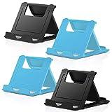 COOLOO Mini Portable Handy Ständer, 4 Stück Tablet Ständer - Multi-Winkel Faltbar Gummi Desktop Halterung Kompatibel Plus, 6-11