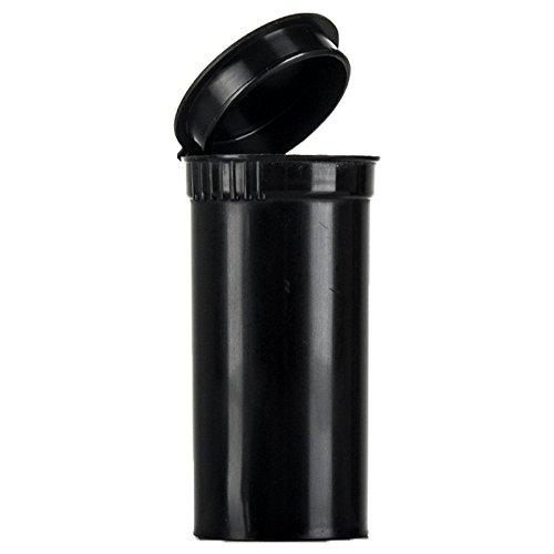 Pop Top Quetschflasche 19Dram / 80ml RX-Schwarz -kindersicherer,  FDA-zugelassener Kunststoff in medizinischer Qualität (PP-BK-50), 50Stück