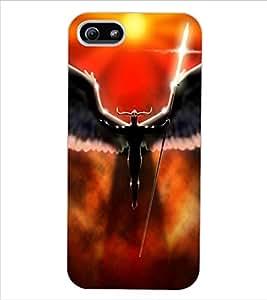 ColourCraft Dark Angel Design Back Case Cover for APPLE IPHONE 5S