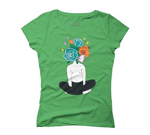 Meditation Women's Graphic T-Shirt - Design By Humans Green