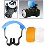 Doux Kit Clixsy Pop-up Flash Diffuseur (diffuseur blanc / bleu Diffuseur / Orange diffuseur / Diffuseur Support)
