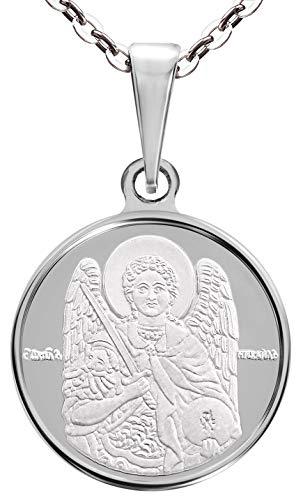 Halskette mit Anhänger St. Michael der Erzengel Sterling-Silber 925 16 mm (Michael-halskette Gold St)