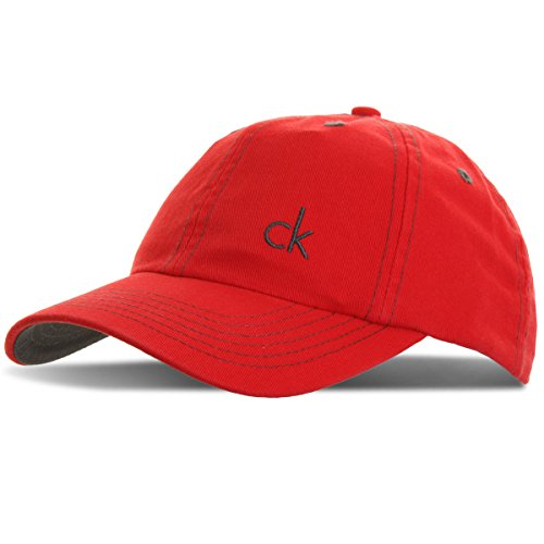 178633acb17 Calvin Klein Golf Men s CK Vintage Twill Baseball Cap Headwear - Red