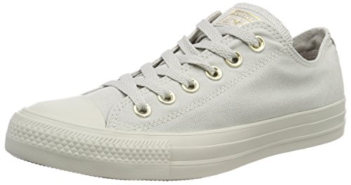 Converse Damen CTAS OX Pale Grey/Gold Fitnessschuhe, Grau (Pale Grey/Pale Grey/Gold 081), 38 EU