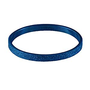 Quiges Stainless Steel Blue Sand Stardust Sparkle Glitter Inner Ring 2mm Height for Stackable Ring Collection Size 19 (R½)