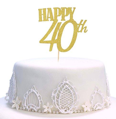 Decoración para tarta de cumpleaños, hecha a mano 40