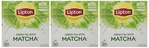 Lipton Grüner Tee mit Matcha Pyramidenbeutel, 20 Stück, 3er Pack