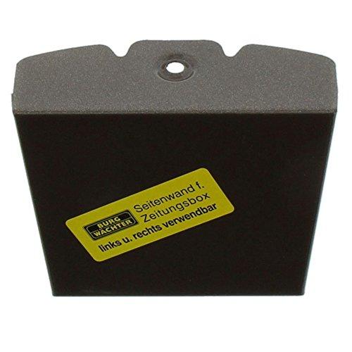 BURG-WÄCHTER, Zeitungsbox mit geprägeter Schrift, Metall, 808 K, Kupfermetallic - 3