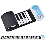 in.tec Rollpiano E-Piano - mit 49 Tasten Keyboard Kinder Klavier Rollbar Silikon Roll Up Piano