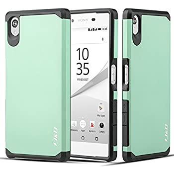 ffd694aaa64 J&D Case Compatible for Xperia Z5 Case, Heavy Duty [Dual Layer] Hybrid  Shock Proof Protective Rugged Bumper Case for Sony Xperia Z5 Case - [Not  for Sony Z5 ...