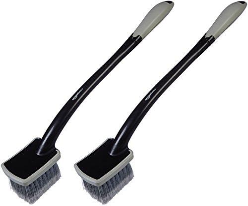 AmazonBasics Long Handled Wheel Brush (2 Pack) - Best Price