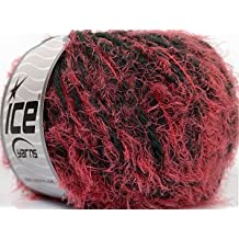 Ice Yarns/Dalhia Pink Dark Grey/50 G di 55 m/Das Original in Turkey