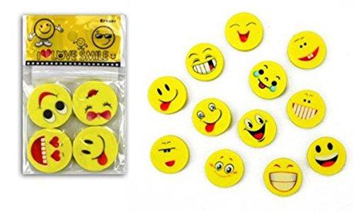 12x Radiergummi Emoji Smiley für Geburtstag Mitgebsel Geschenk Kinder Party Gefälligkeiten...
