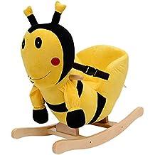 Homcom caballo balancín columpio infantil animales de peluche caballito balancín Baby columpio balancín juguete regalo para niños (abeja)