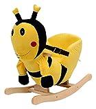 Homcom Cheval à bascule pour enfant, animal à bascule, peluche, cheval à bascule, jouet à bascule pour bébé, cadeau pour enfant (girafe à bascule)