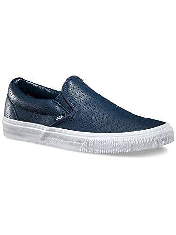 Vans U Classic Slip-On, Bottes Classiques Unisexe adulte - Bleu - Navy Blue/White, 42.5 EU