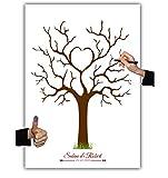 Wedding tree, Leinwand Herzbaum 003, Fingerabdruckbaum 40x60cm