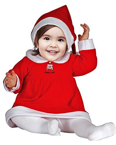 Baby Mädchen- Weihnachtkostüm Kinder Baby - Weihnachtsmann Kostüm Kinder Baby Mädchen (Kostüme Freunde Für Passende)