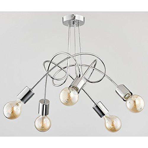 Moderne lampe de plafond 5 x 60 W/E27 Tango Chrome 24465 Alfa