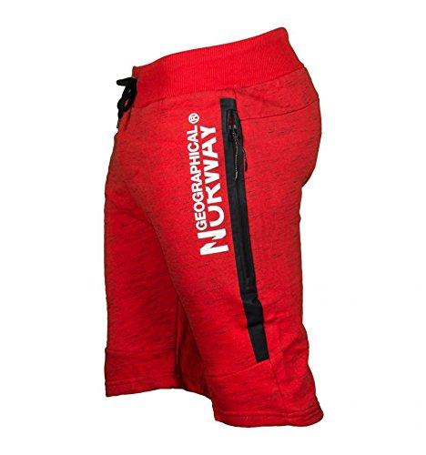 Geographical Norway PADYEAR Men Pantalones Cortos Deportivos, Rojo Red, 44 tamaño del Fabricante...
