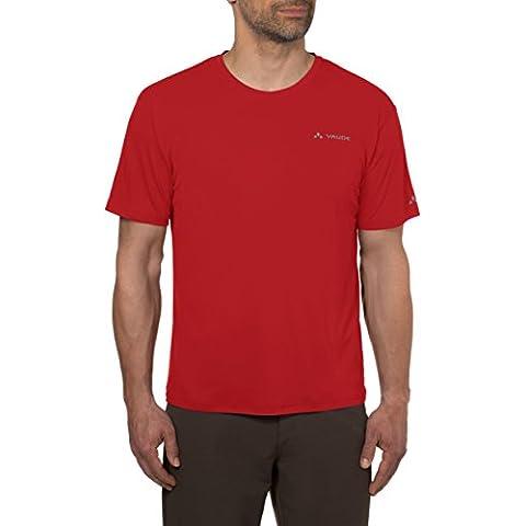 VAUDE T-Shirt Men's Micro Big Fritz III - Camisa / Camiseta para hombre, color rojo, talla XL