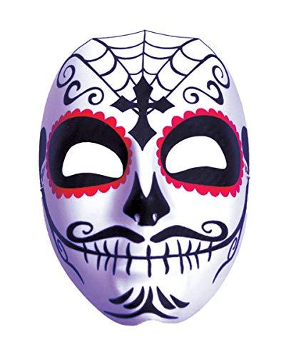 Horror-Shop Tag der Toten Maske mit Schnurrbart