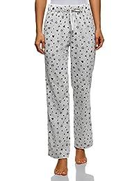 oodji Ultra Mujer Pantalones Estampados de Forro Polar