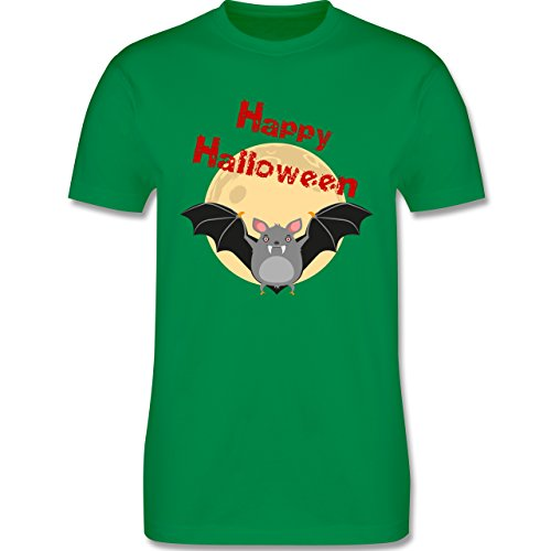 Halloween - Happy Halloween Fledermaus - Herren Premium T-Shirt Grün